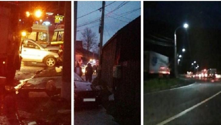 Accident rutier, miercuri noapte, pe DN1, la Azuga