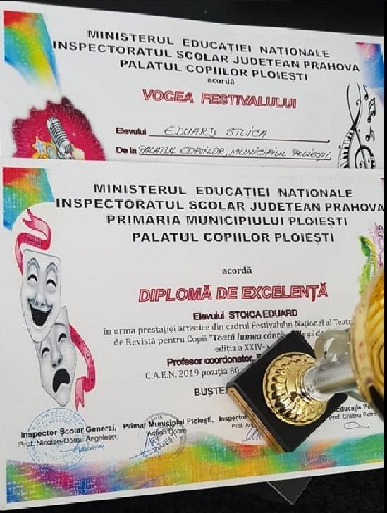 Florin Eduard Stoica, DiaFun şi Clubul Artist, premii importante la Buşteni