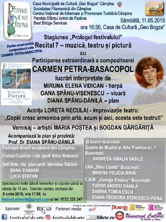 """Stagiunea """"Prologul festivalului"""" - Recital 7 – muzică, teatru şi pictură"""