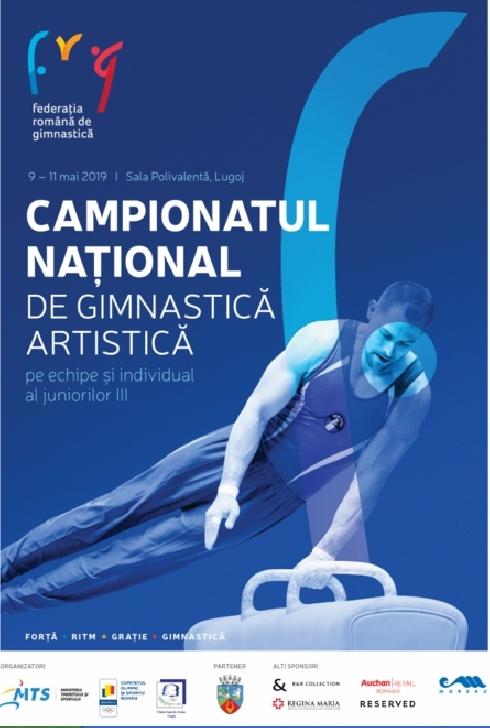 Campionatelor Naţionale de gimnastică artistică pe echipe şi la individual compus al juniorilor III