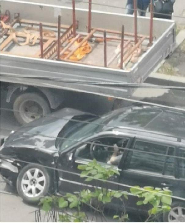 Accident pe Soseaua Vestului,in zona complexului comercial Balif