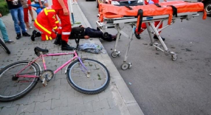Un adolescent a fost lovit de o maşină  la intersecţia Şoselei Vestului cu strada Bahluiului