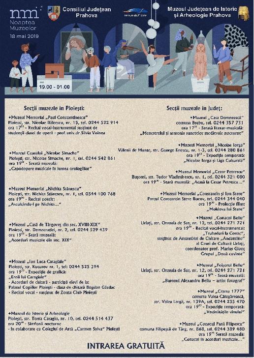 Noaptea muzeelor 2019.Programul muzeelor din Prahova