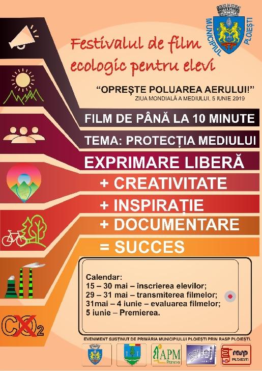 Incepe Festivalul de film ecologic pentru elevi (editia a 6 a )