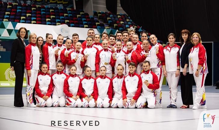 România a câştigat 10 medalii la Campionatele Europene de Gimnastică Aerobică de la Baku