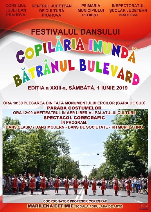 """Sâmbătă va avea loc Festivalul dansului """"Copilăria Inundă Bătrânul Bulevard"""" (editia a XI-a ediţia )"""