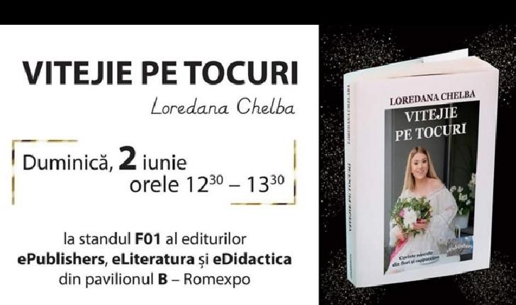 Bloggerita Loredana Chelba îşi lansează cartea