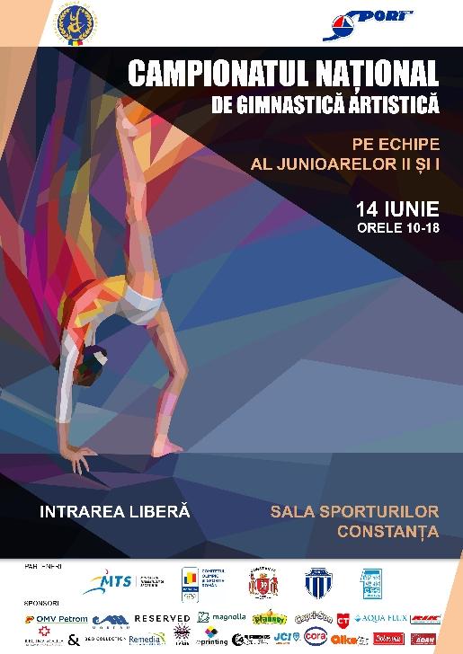 Campionatul Naţional de Gimnastică Artistică Echipe, Junioare II şi I