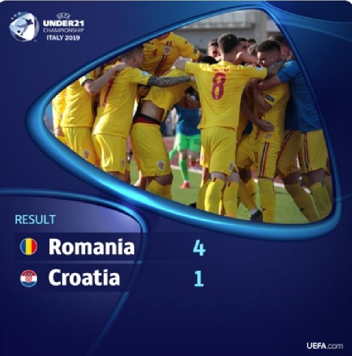 Victorie clara in primul meci de la Euro 2019-Under 19  .Romania-Croatia 4-1
