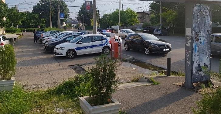 Un autoturism a acrosat un motociclist la intersectia străzilor Vasile Lupu cu Lăpuşna