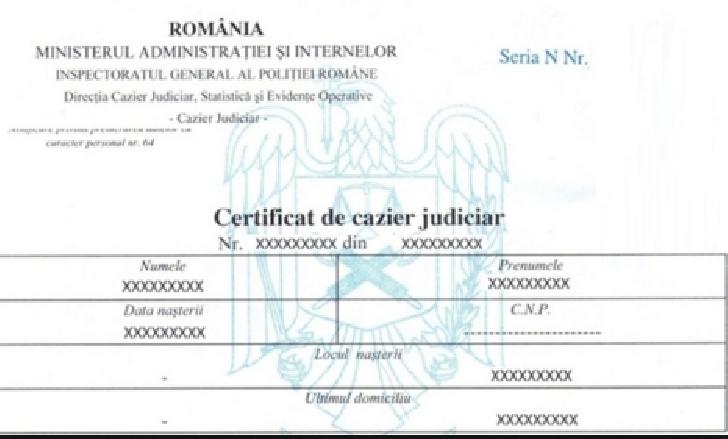 Punctele de lucru,de unde puteti scoate cazierul judiciar,in judetul Prahova