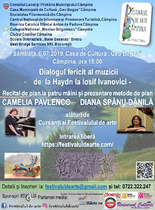 Lansarea Festivalului de arte, Câmpina şi Brebu, 3-13 iulie 2019