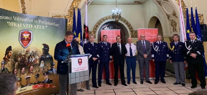 """500.000 de militari şi poliţişti s-au inscris in Uniunea Militarilor şi Poliţiştilor """"Mihai Viteazul"""""""