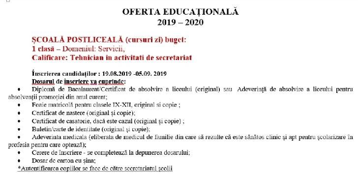 Oferta educaţională de la Colegiul Economic