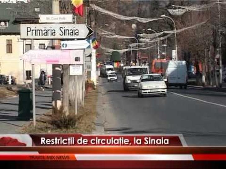 Circulaţia rutieră va fi închisă, în acest weekend, pe anumite sectoare de drum în orasul  Sinaia