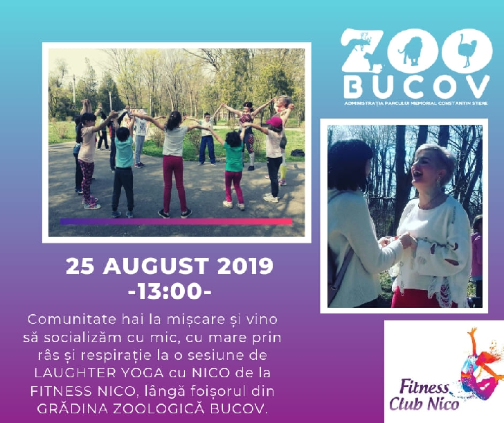 "Comunitatea ""Hai la mişcare ""te invită la o sesiune de Laughter Yoga, la Zoo Bucov"