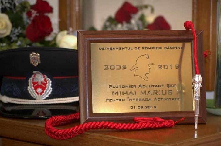 ISU Prahova.  Plutonierul adjutant sef Mihai Marius a iesit la pensie