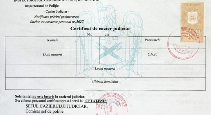 PROGRAM DE ELIBERARE AL  CERTIFICATELOR DE CAZIER JUDICIAR LA NIVELUL JUDEŢULUI PRAHOVA