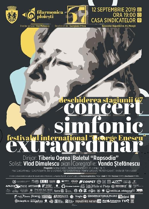 """Filarmonica """" Paul Constantinescu """" Ploiesti.Concert extraordinar în deschiderea Stagiunii 67"""