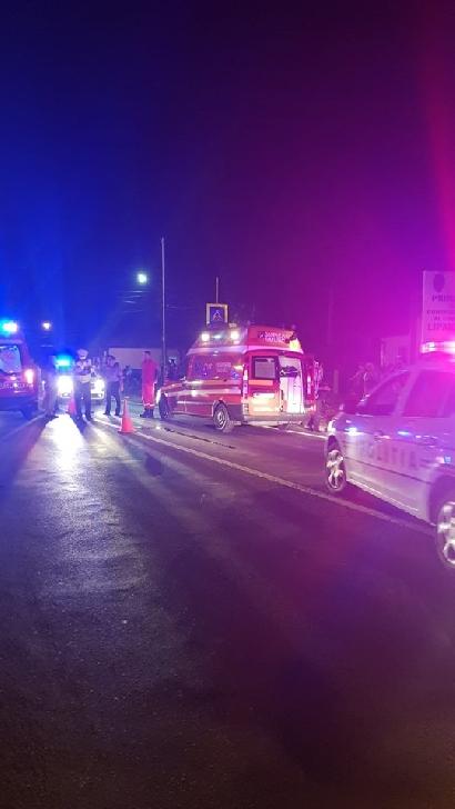 Accident rutier  la Lipăneşti. O femeie a fost acroşată pe trecerea de pietoni