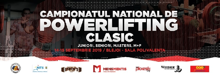 Campionatul Naţional de Powerlifting Clasic 2019 se desfăşoară la Blejoi