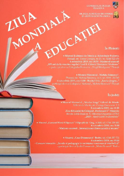 Ziua  Mondiala  a Educaţiei la muzeele din Prahova