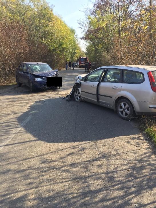 Accident rutier in zona padurii de la Crangul lui Bot