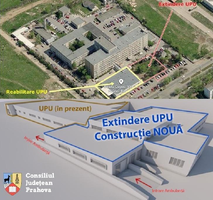 Consiliul Judetean Prahova incepe  lucrările de extindere şi modernizare la Unitatea Primiri Urgenţe (UPU)
