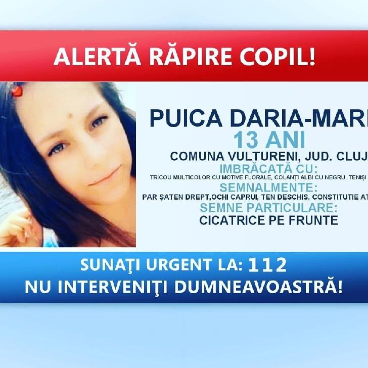 Minora din judetul  Cluj,data disparuta,a fost gasita