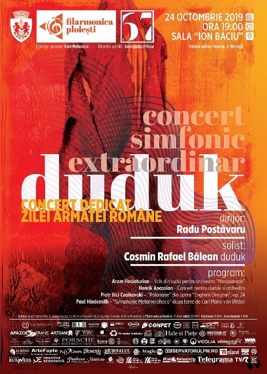 """Premieră la Ploieşti: Concert de duduk pe scena Filarmonicii """"Paul Constantinescu """""""