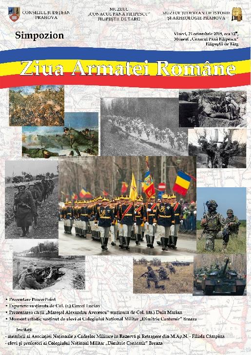 """Muzeul """"Conacul Pană Filipescu"""" Filipestii de Padure va organiza simpozionul """"Ziua Armatei Române"""""""