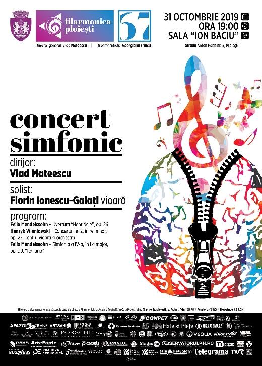 """Seara Mendelssohn si Wieniawski la Filarmonica """"Paul Constantinescu """" Ploiesti"""