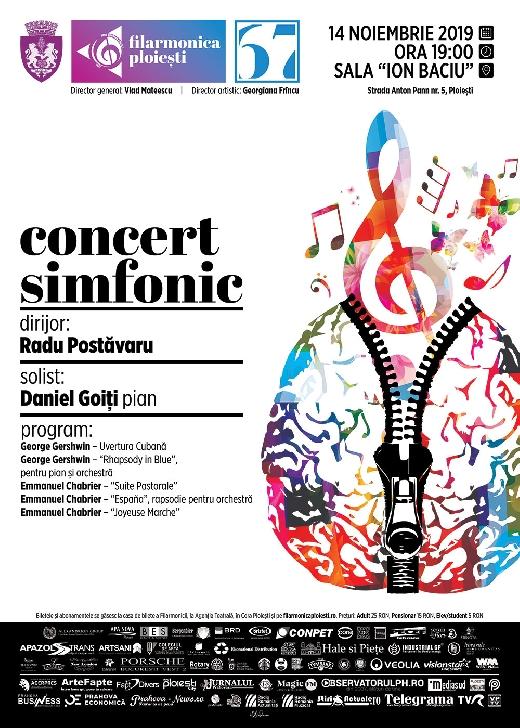 """Concert pentru pian pe scena Sălii """"Ion Baciu""""  a Filarmonicii """" Paul Constantinescu """" Ploiesti"""
