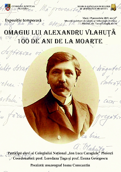 OMAGIU LUI ALEXANDRU VLAHUŢĂ. 100 DE ANI DE LA MOARTE