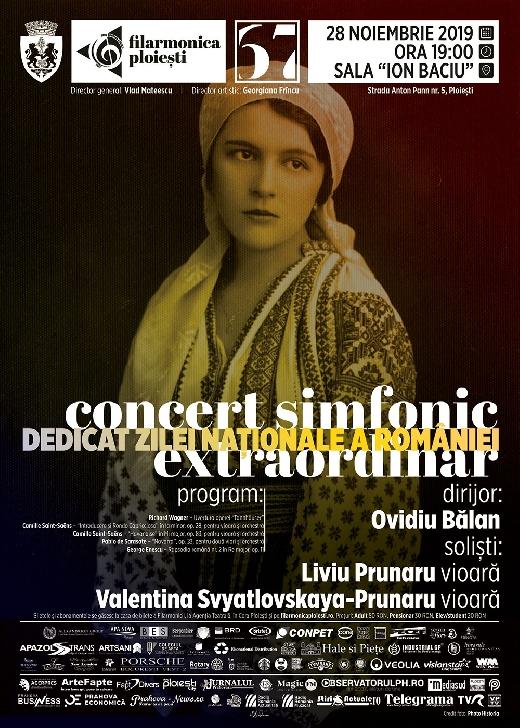 """Concert simfonic dedicat Zilei Naţionale a României la Filarmonica """"Paul Constantinescu """" Ploiesti"""