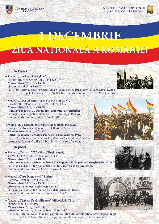 Ziua Naţională a României este  sărbătorită la muzeele din Prahova