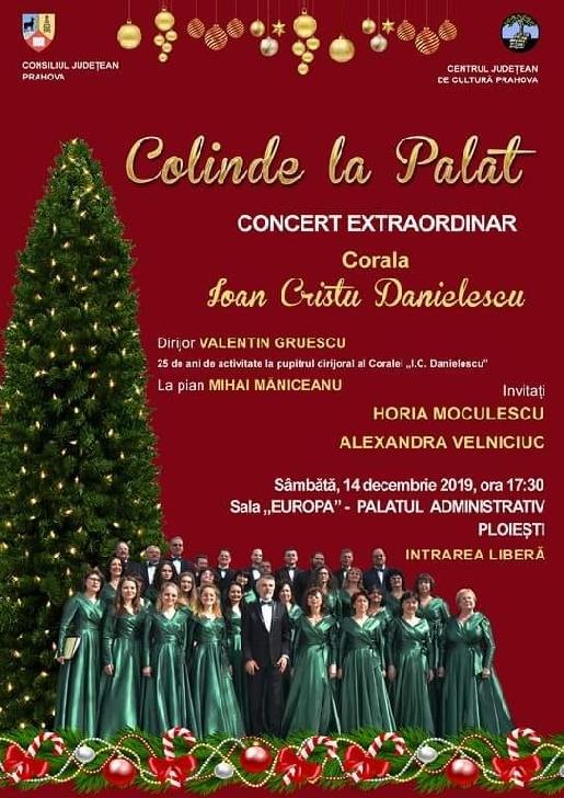 Colinde la Palat.Concert de colinde la Sala Europa a Consiliului Judeţean Prahova