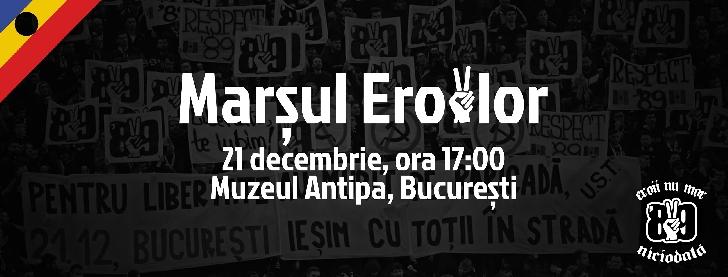 """Grupul"""" Uniţi sub tricolor"""" (UST) organizează un marş şi un concert comemorativ, în memoria eroilor de la Revoluţia din 1989"""