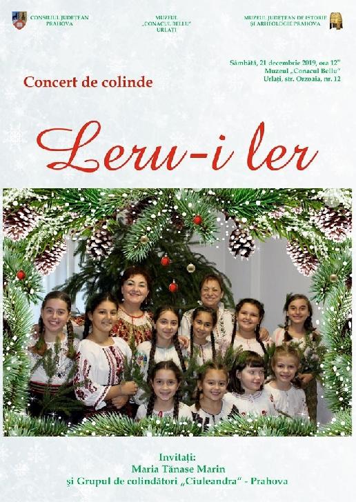 """Concert de colinde """"Leru-i ler"""" la Muzeul """"Conacul Bellu"""" Urlati"""