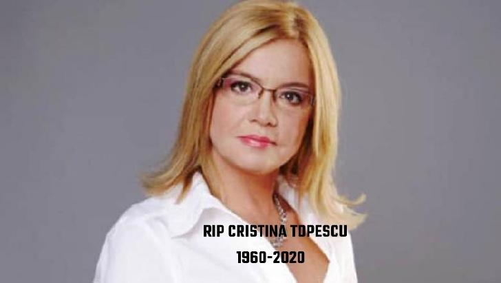 Jurnalista Cristina Topescu a plecat la cele sfinte.Dumnezeu sa o odihneasca-n pace