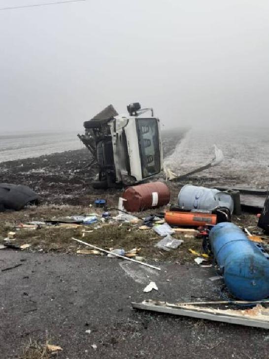 Accident rutier între un microbuz şi un autoturism, între Fulga şi Mizil