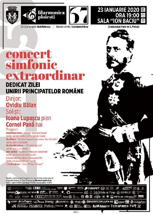 """Concert simfonic extraordinar dedicat Zilei Principatelor Unite, la Filarmonica"""" Paul Constantinescu"""""""