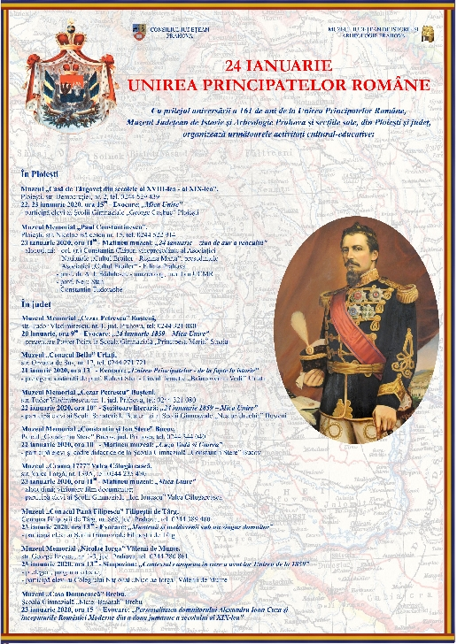 24 IANUARIE - UNIREA PRINCIPATELOR ROMÂNE ,la muzeele din Prahova