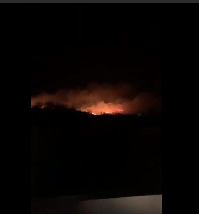Incendiu puternic de vegetaţie în Prahova, la Jugureni (video)