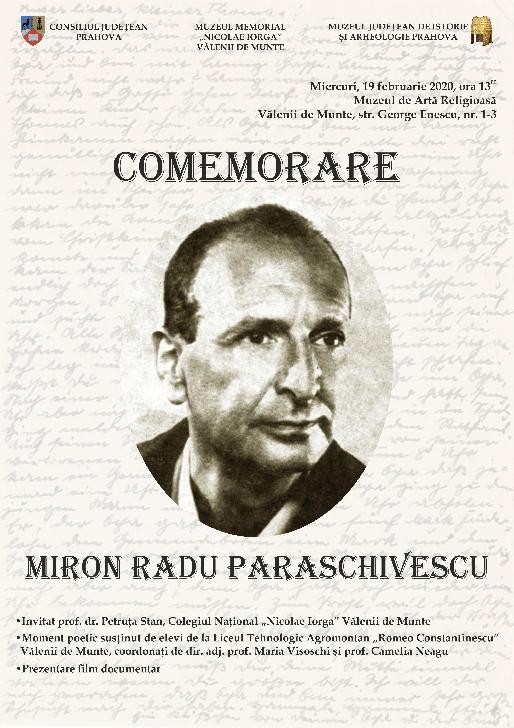 "Medalion comemorativ ""Miron Radu Paraschivescu "" la Muzeul Memorial "" Nicolae Iorga "" din Vălenii de Munte"