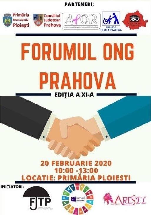 FORUMUL ONG PRAHOVA va avea loc la sediul Primăriei municipiului Ploieşti