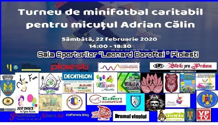 EVENIMENT CARITABIL PENTRU UN BĂIEŢEL DE 4 ANI. Turneu de minifotbal la Ploieşti