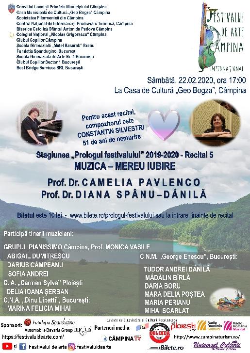 """Stagiunea """"Prologul festivalului"""" 2019-2020 - Recital 5.MUZICA – MEREU IUBIRE"""