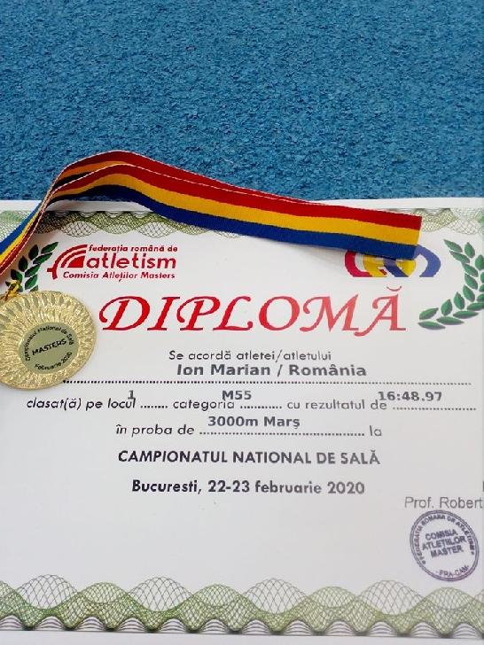 Atletul prahovean Ion Marian a devenit campion national la 3000 metri mars