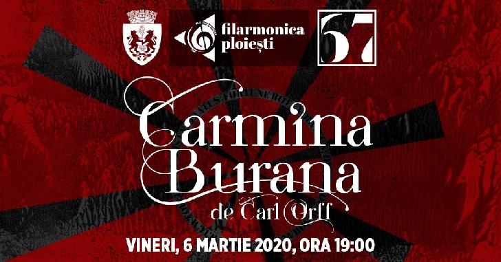 """Carmina Burana , Concert simfonic extraordinar pe scena Filarmonicii """"Paul Constantinescu """" Ploiesti"""